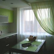 Примеры штор для кухни фото