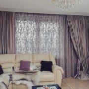 Примеры штор для гостиной фото